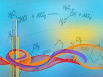 Abstract Science background  test tube Royalty Free Stock Photography