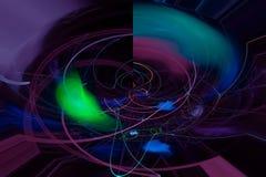 Abstract science fantastic color digital explosion fractal fantasy design backdrop. Abstract digital fractal fantasy design color royalty free illustration