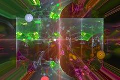 Abstract science fantastic color light  splash wave   nebula  explosion fractal fantasy design backdrop. Abstract digital fractal fantasy design color vector illustration
