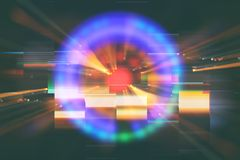 Abstract science fiction futuristic background . lens flare. concept image of space or time travel over bright lights.  royalty free illustration