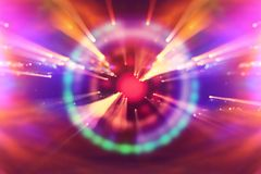 Abstract science fiction futuristic background . lens flare. concept image of space or time travel over bright lights. Abstract science fiction futuristic royalty free stock photography