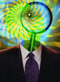 Abstract science fiction man Stock Photography