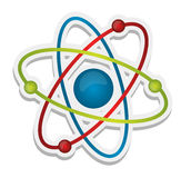 Abstract science icon of atom. Illustration design over white Stock Image