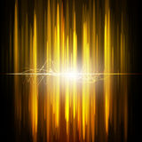 Abstract science light on golden background. Royalty Free Stock Photo