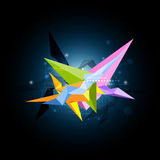 Abstract science shape design Royalty Free Stock Image