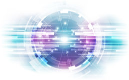 Abstract science technology concept background. vector illustration Royalty Free Stock Photography