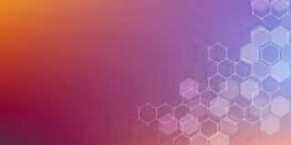 Abstract science and technology concept from hexagonal elements. Polygonal geometric design with hexagons pattern. Hi. Tech digital background Stock Photography