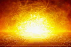Abstract scientific background - glowing energy Royalty Free Stock Photo