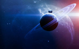 Abstract scientific background - planets in space, nebula and stars. Elements of this image furnished by NASA nasa.gov stock image
