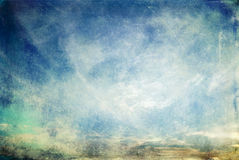 Abstract scratchy grunge sky. With clouds Royalty Free Stock Image
