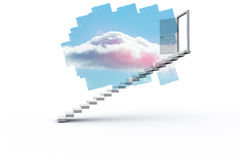 Abstract screen in room showing cloudy sky Royalty Free Stock Photography