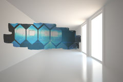 Abstract screen in room showing technology interface Royalty Free Stock Image