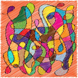 Abstract scribble background Stock Photos