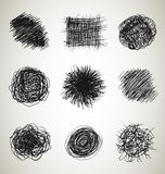 Abstract scribbles Stock Images
