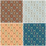 Abstract Scroll Pattern. In four colorways repeats seamlessly Stock Photography