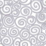 Abstract scroll seamless pattern. Black and white spiral text Stock Photo