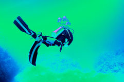 Abstract scuba diver Stock Images