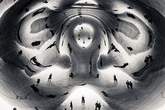 Abstract of sculpture Stock Images