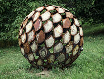 Abstract sculpture in the globe shape Royalty Free Stock Photos
