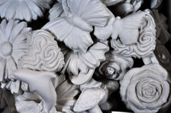 Abstract sculptures figures of flowers and animals. Abstract sculptures figures flowers and animals Stock Photo