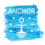 Abstract sea anchor. Abstract image of a sea anchor.  illustration Vector Illustration