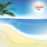 Abstract sea background with white sand. Royalty Free Stock Image