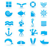 Abstract sea design elements