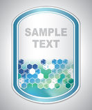 Abstract sea-green laboratory label Stock Photography