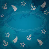 Abstract sea grunge background. Vector Stock Images