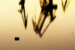 Abstract sea Industry. Image of the heavy industry by the sea Stock Images