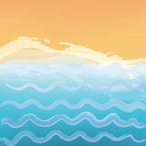 Abstract sea or ocean background with a beach. Royalty Free Stock Photography