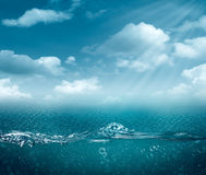 Abstract sea and ocean backgrounds Stock Image