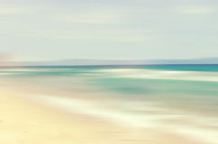 An abstract sea seascape. An abstract ocean seascape with blurred panning motion Royalty Free Stock Photo