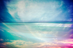 An abstract sea seascape Stock Image