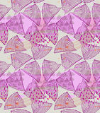 Abstract sea shell purple with dots Royalty Free Stock Image