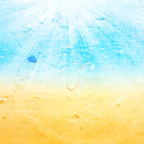 Abstract  sea water summer  textured background with summer ray Stock Photos