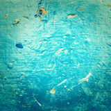 Abstract  sea water textured background in old grunge  style. Bl Royalty Free Stock Photo