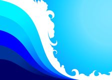 Abstract Sea Wave Backgroun. An Abstract Sea Wave Background Stock Photo