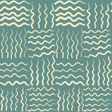 Abstract sea wave seamless pattern Royalty Free Stock Photos