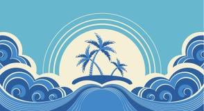 Abstract sea waves. Stock Image