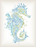Abstract Seahorse. Illustration of Abstract Design Seahorse royalty free illustration