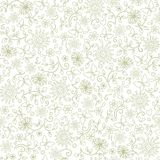 Seamless abstract floral backgrond. Abstract seamkess backgrond with flowers and butterflies royalty free illustration