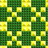 Abstract seamless. Abstract background of green and yellow triangles color Stock Image