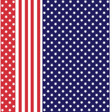 Abstract seamless american pattern. With stars and stripes Royalty Free Stock Photography