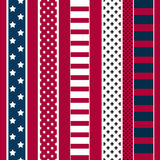 Abstract seamless american pattern. With stars and stripes Royalty Free Stock Photo