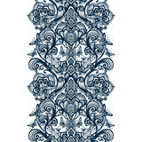 Abstract seamless arabic lace pattern with flowers and butterflies. Royalty Free Stock Photography