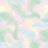 Abstract seamless backdrop of palm fronds. Vector Royalty Free Stock Photo