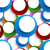 Abstract seamless backgorund with circles. Bright background Royalty Free Stock Photography