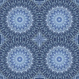 Abstract seamless background. Arab circular seamless ornament in blue colors, EPS8 - vector graphics Royalty Free Stock Images