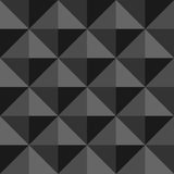 Abstract seamless background with black and gray triangles Royalty Free Stock Images